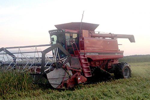 Battle River Wild Rice Harvestor